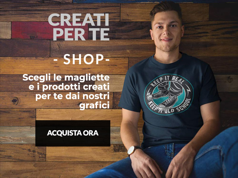 ragazzo veste una maglietta T-shirt and More creata dai nostri designer